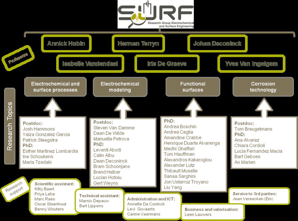 SURF_organigram